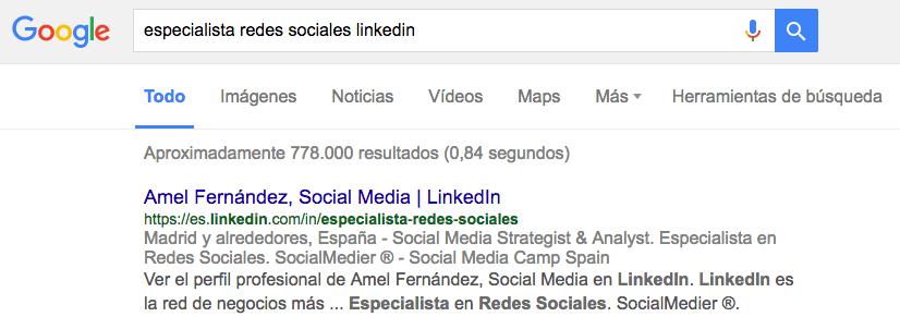Enlace de la URL de linkedin para compartir - SEO