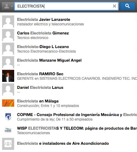SEO en Linkedin - Electricista 3
