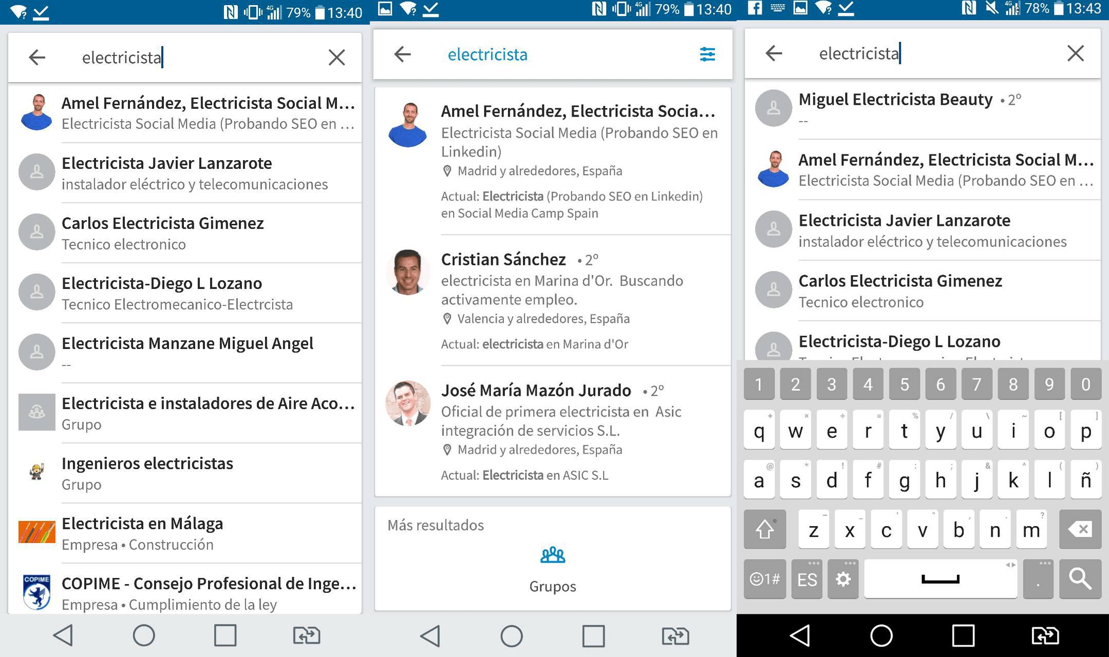 SEO en Linkedin - Electricista 4