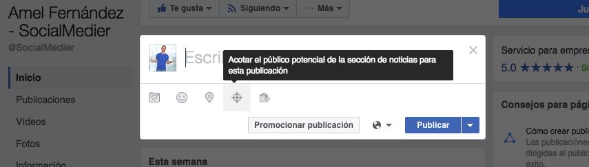 segmentar publicaciones facebook - socialmedier