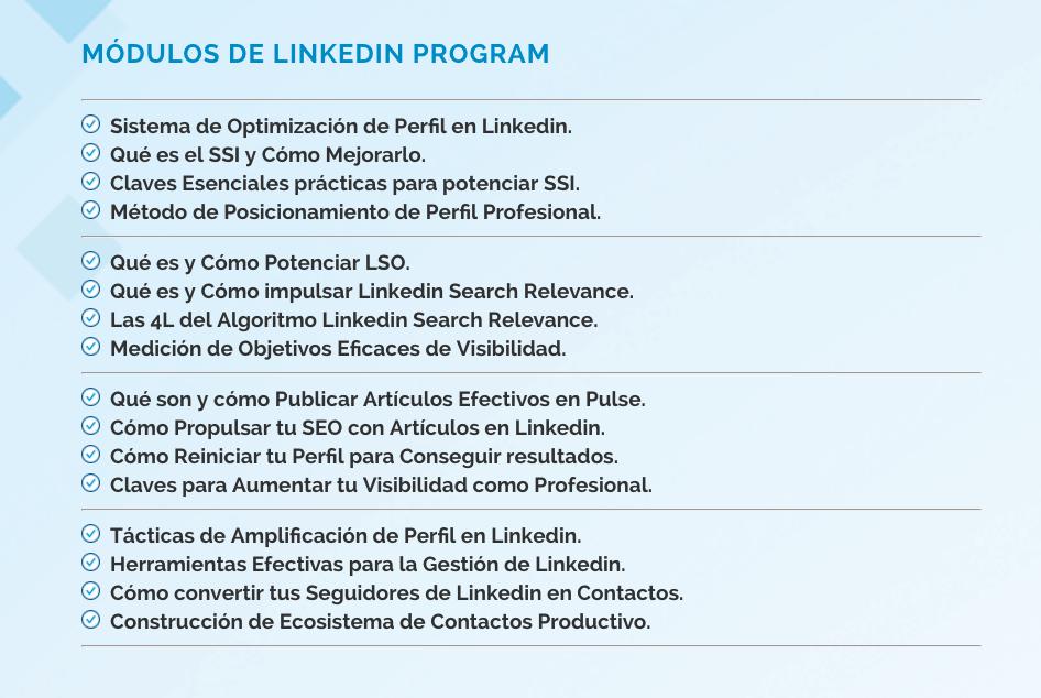 Curso de Linkedin Online Avanzado - Linkedin Program 2