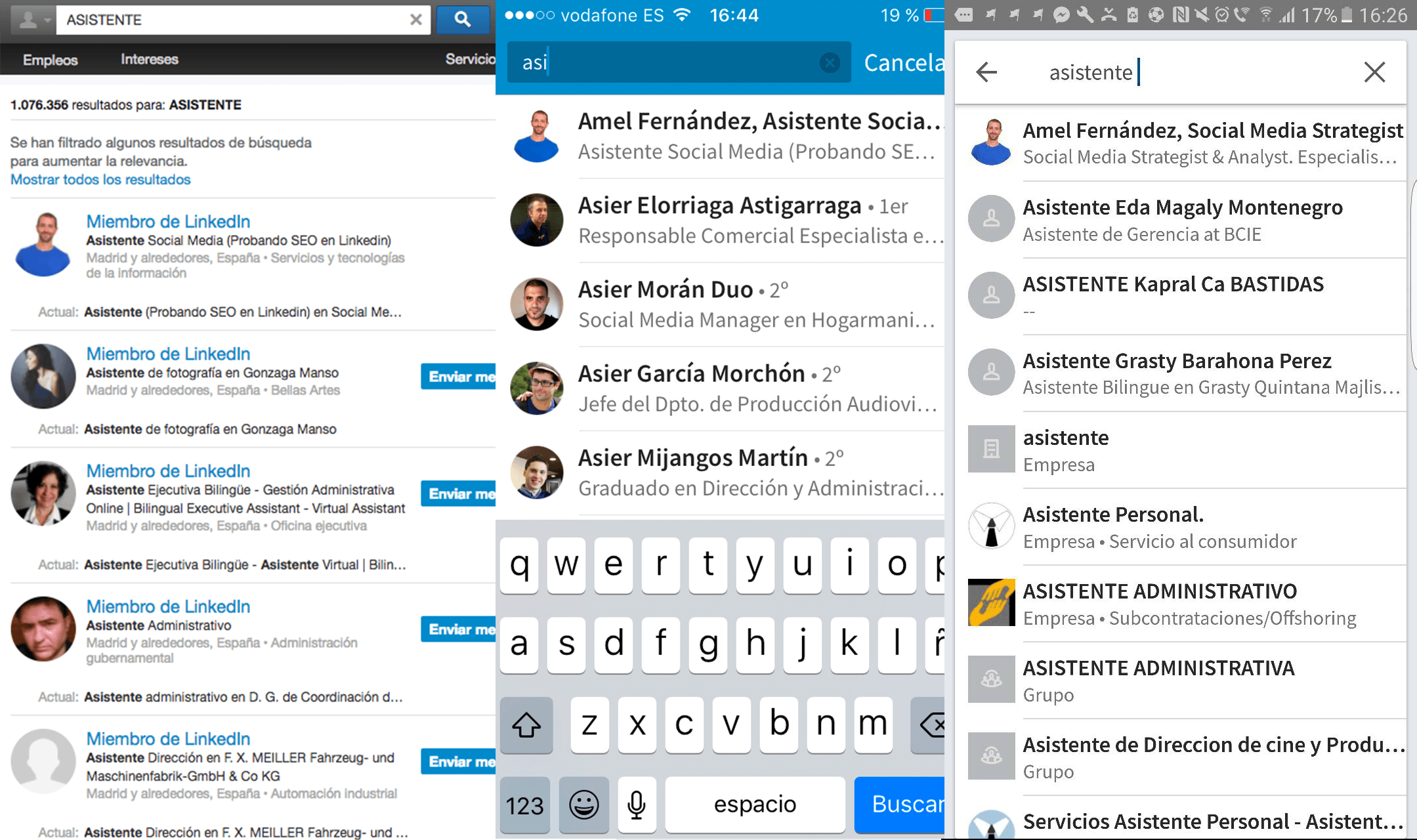 SEO en Linkedin - Asistente 2