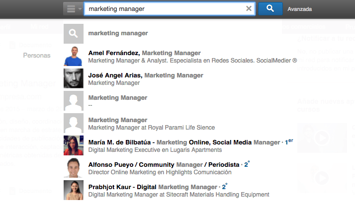 SEO en Linkedin - Marketing Manager 3
